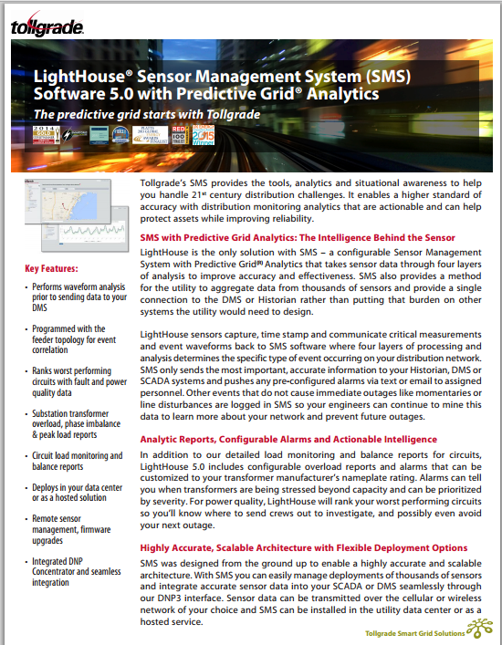 Sensor_Management_System_(SMS)_Software_Datasheet-Tollgrade_LightHouse
